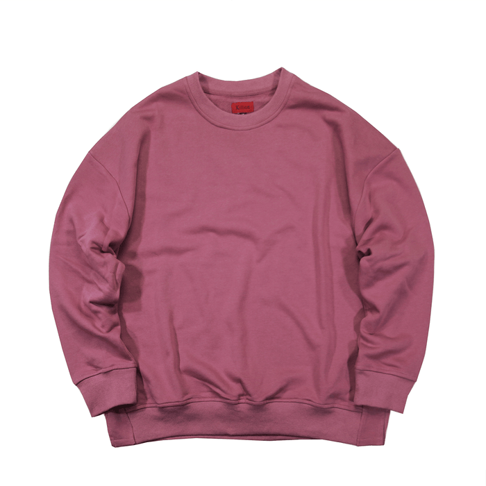 Oversized Side Cut Crewneck - Washed Plum