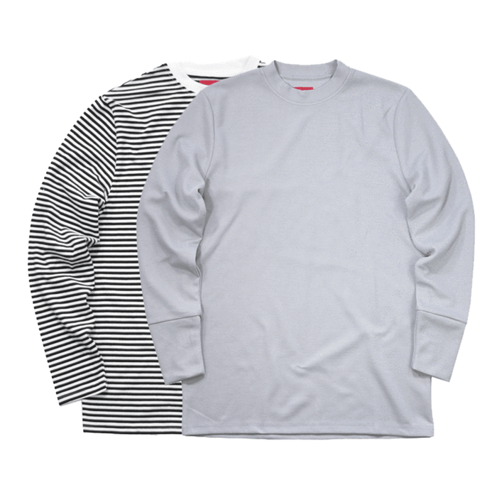 2-Pack SI LS - High Neck LS/Waffle Knit LS