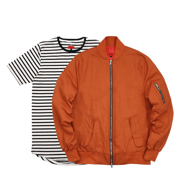 2-Pack Bomber Jacket/Mulberry - Rust