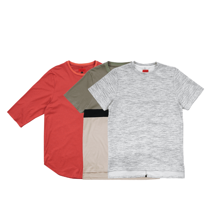 3-Pack Tops - Thin Stripe/Slub Boxy/Single Stripe