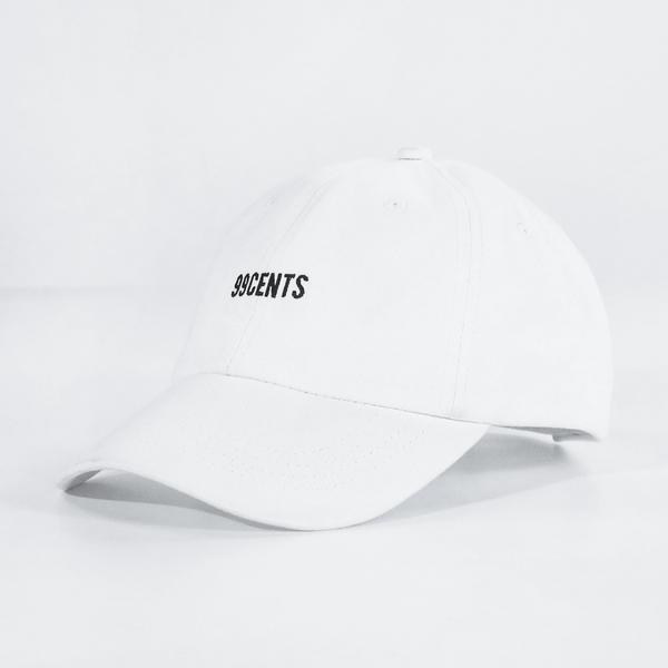 99 Cents Dad Hat - White
