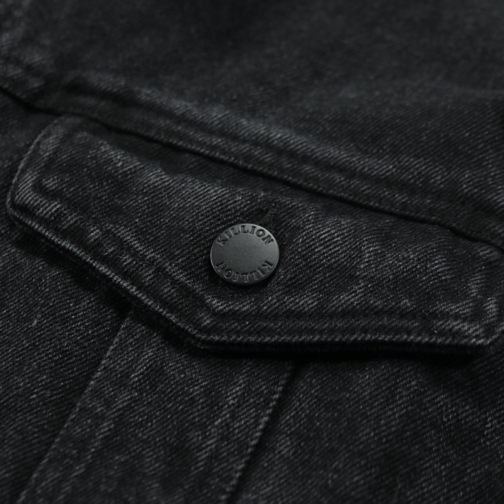 Oversized Distressed Denim Jacket - Black(04.09.19 Release)