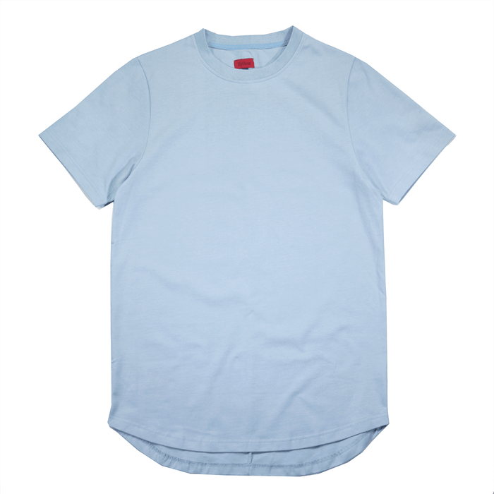 Premium Scallop Extended Tee - Light Blue (02.06.19 RELEASE)