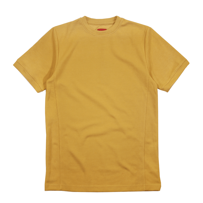 Premium Waffle Knit Short Sleeve - Mustard Yellow (05.21.2019 Release)