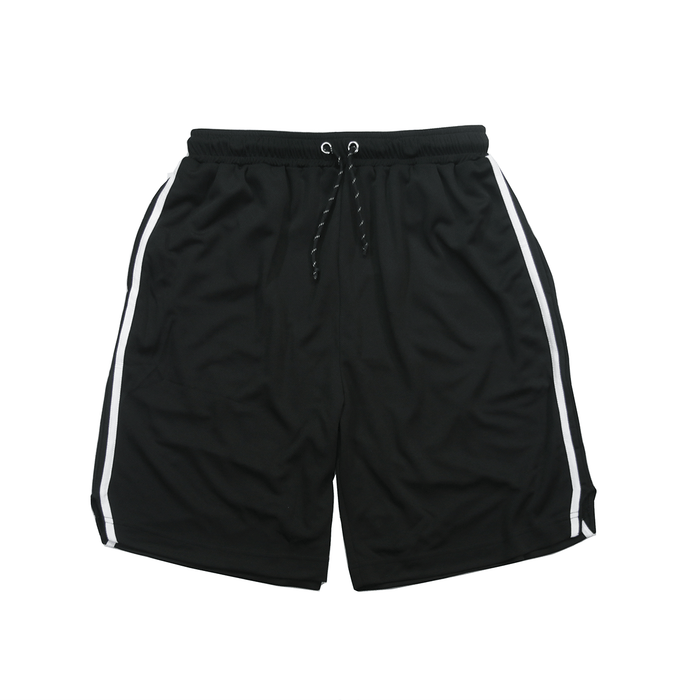 Split Stripe Basketball Shorts - Black/White