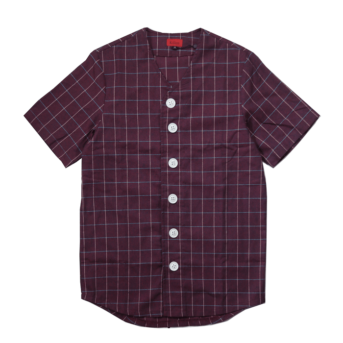 Bowery Baseball Top - Burgundy