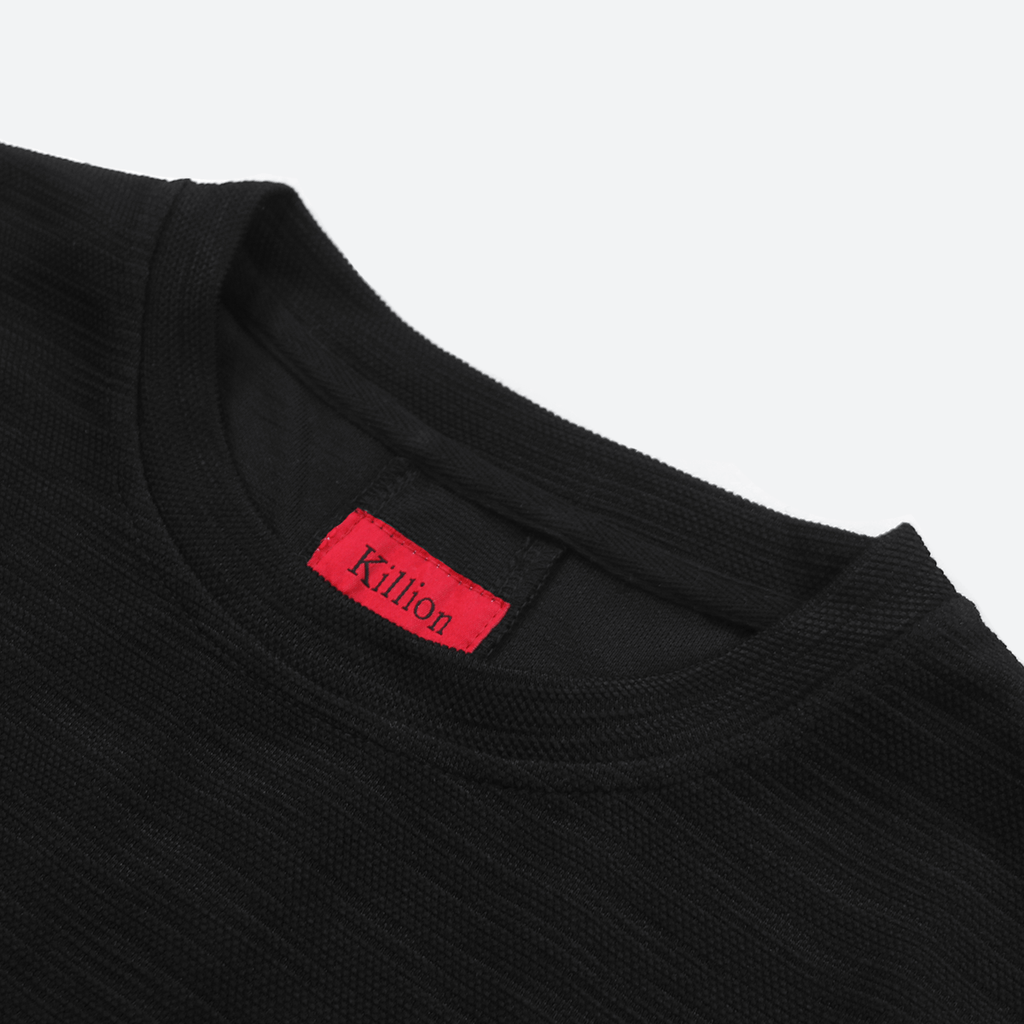 Back Stripe Tech Tee - Black