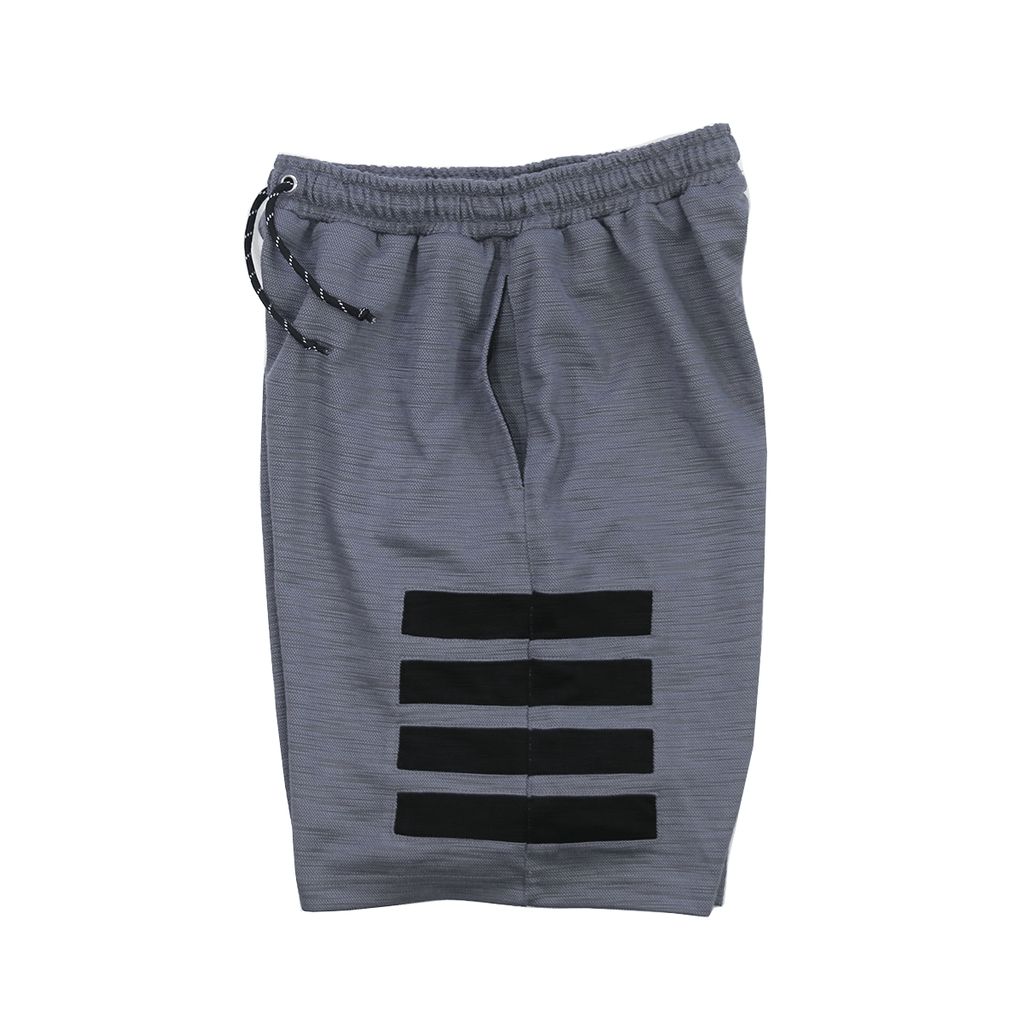 Wide Block Tech Shorts - Grey