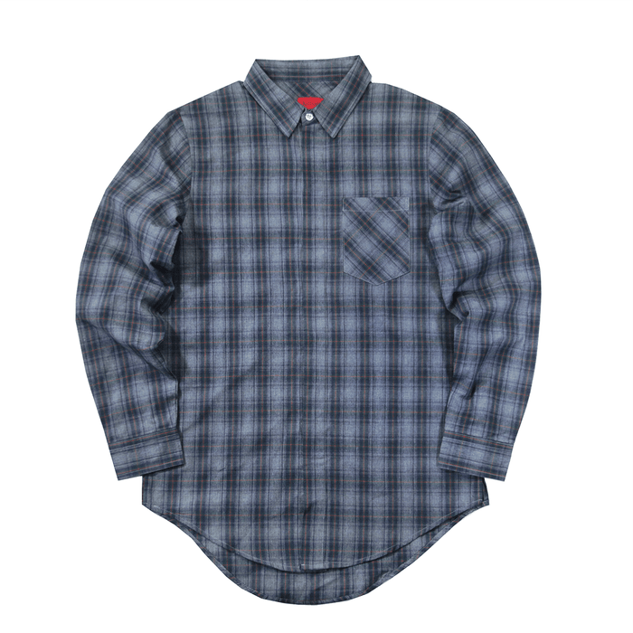 Finegrid LS Buttonup - Cool Grey