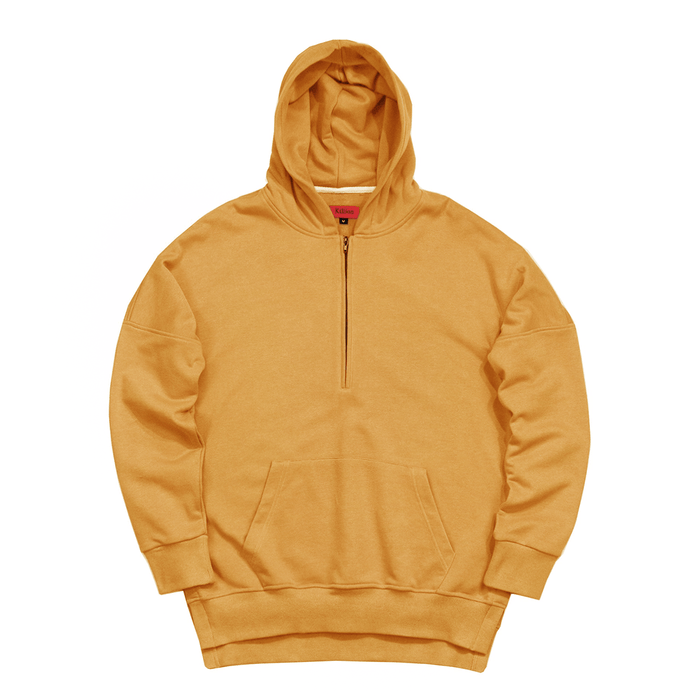 Side Cut Quarter Zip Hoodie - Mustard (04.28.21 Release)