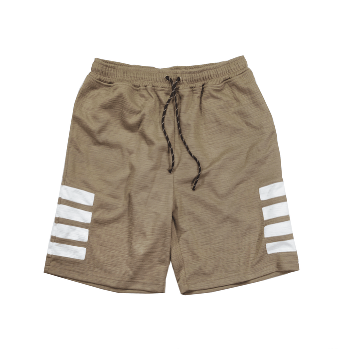 Wide Block Tech Shorts - Beige/White (08.06.19 Release)