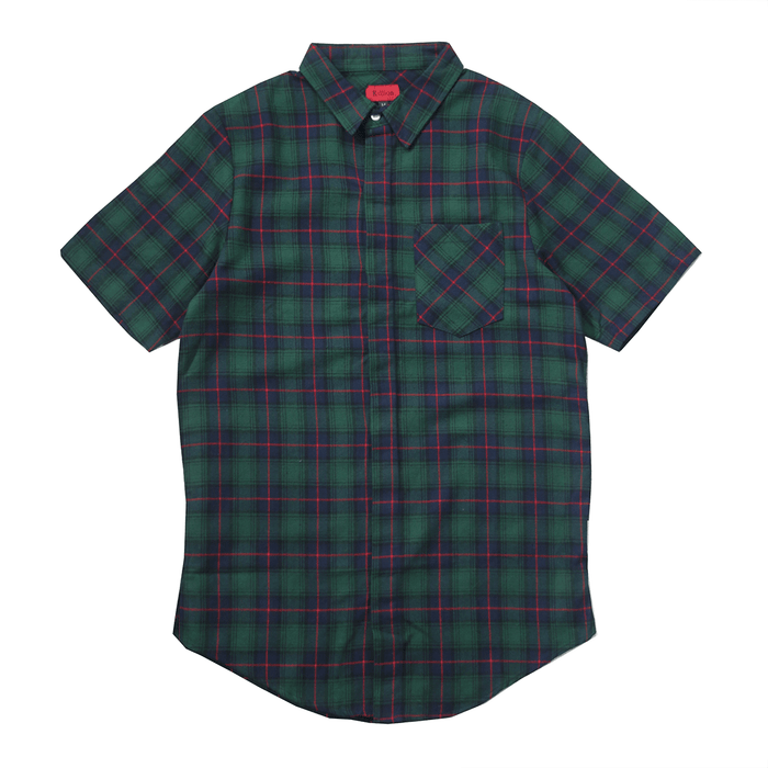Gardena Flannel S/S Button Up - Green