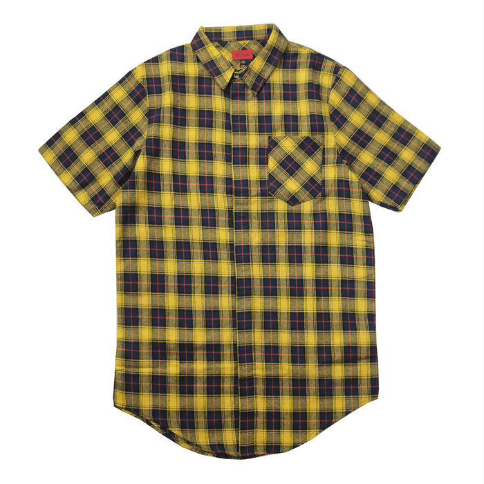 Gardena Flannel S/S Button Up - Yellow
