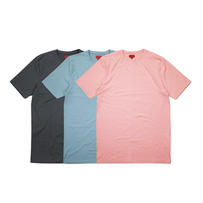 3-Pack SI-12 Essential Flat-Hem - Peach/Slate/Clay Blue (08.15 RELEASE)