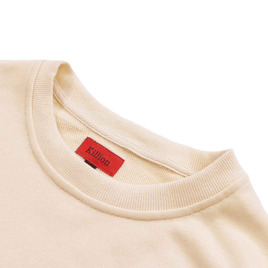 Oversized Side Cut Crewneck - Cream