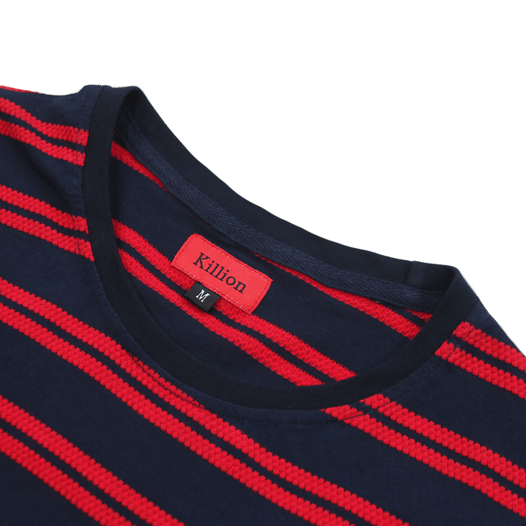Boucle Stripe S/S Tee - Navy/Red