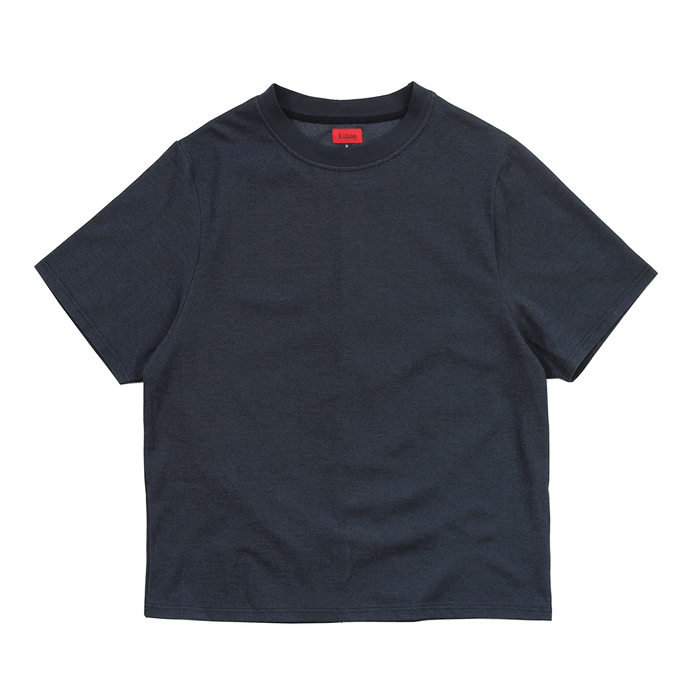 Twill Knit Oversized Tee - Black