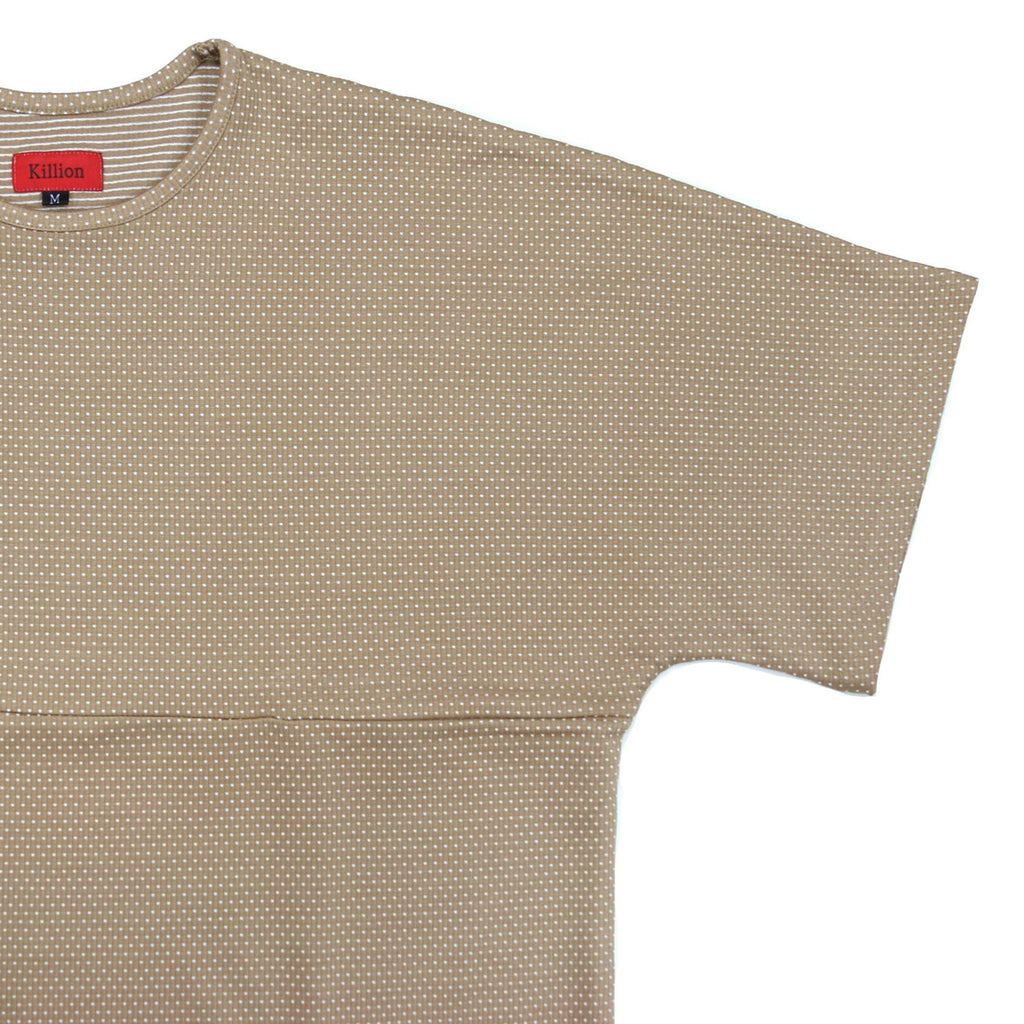 Macrodot Dropped Shoulder SS - Sand