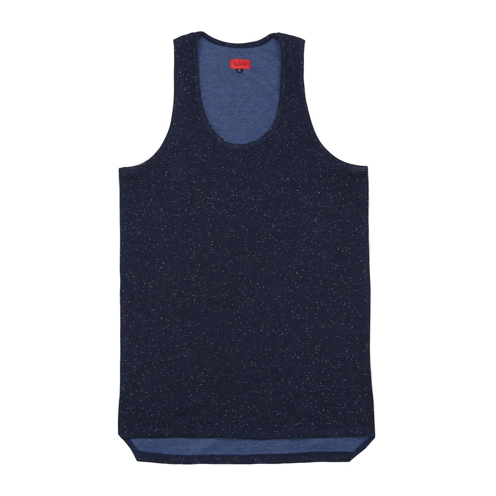 Speckle Tank Top - Navy