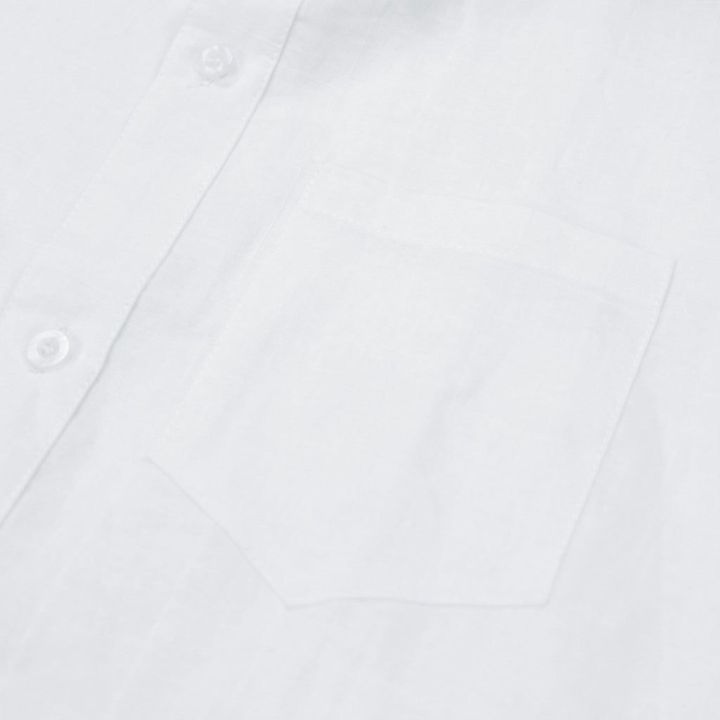 Crosspat Linen Buttonup - White
