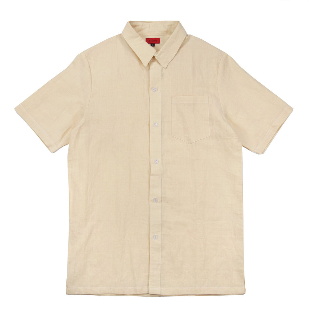 Crosspat Linen Buttonup - Yellow