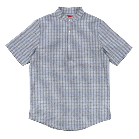 Graystone Halfplacket Mandarin Collared Top