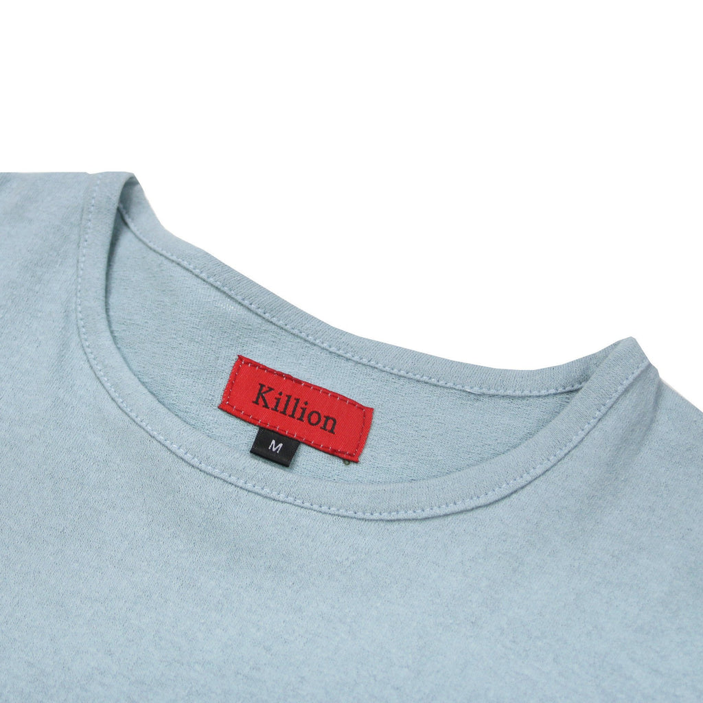 Slub Washed Box Tee - Clay Blue