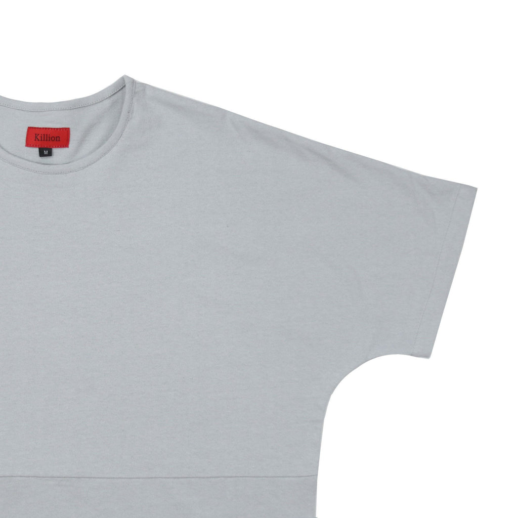 Slub Washed Box Tee - Gray