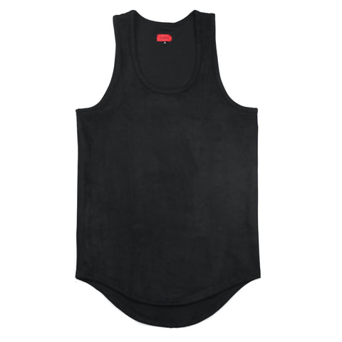 Suede Butter Tank Top - Black
