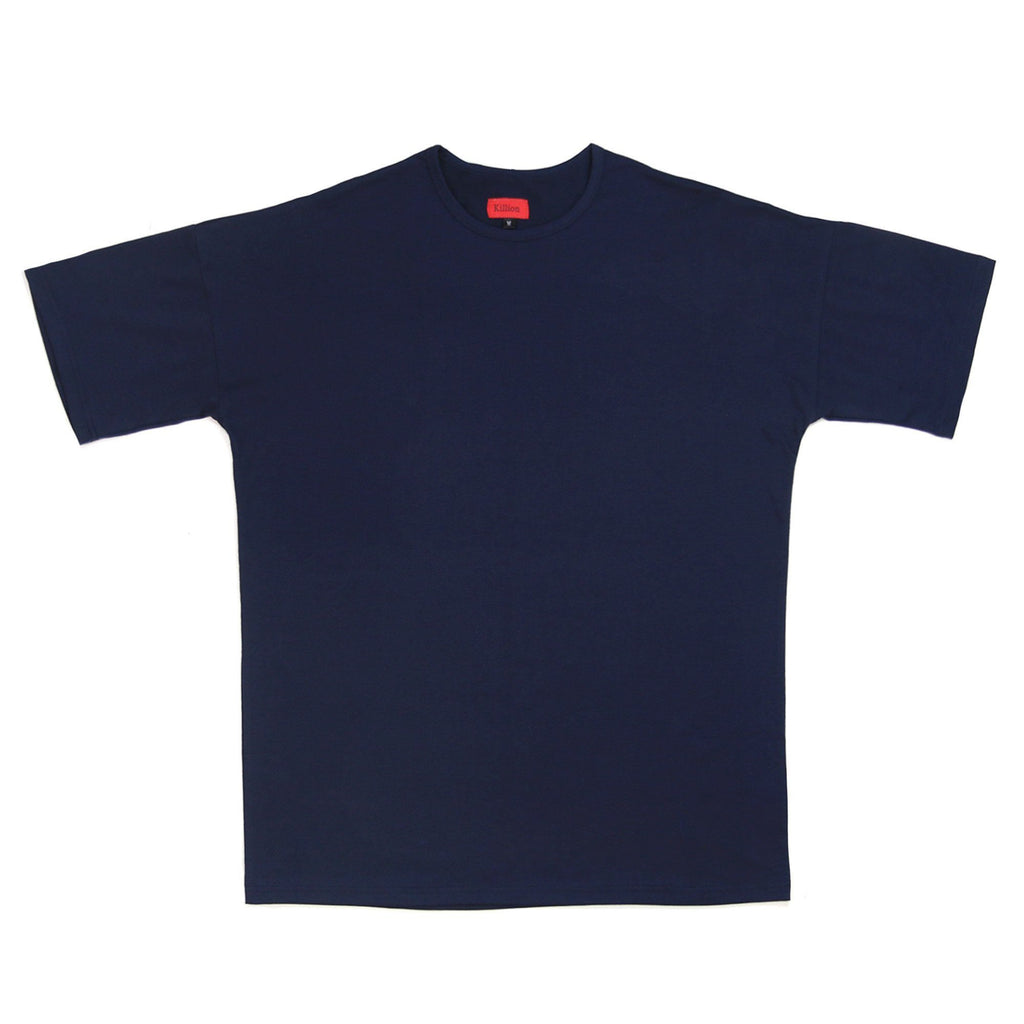 Essential Dropped Shoulder Box Tee - Navy