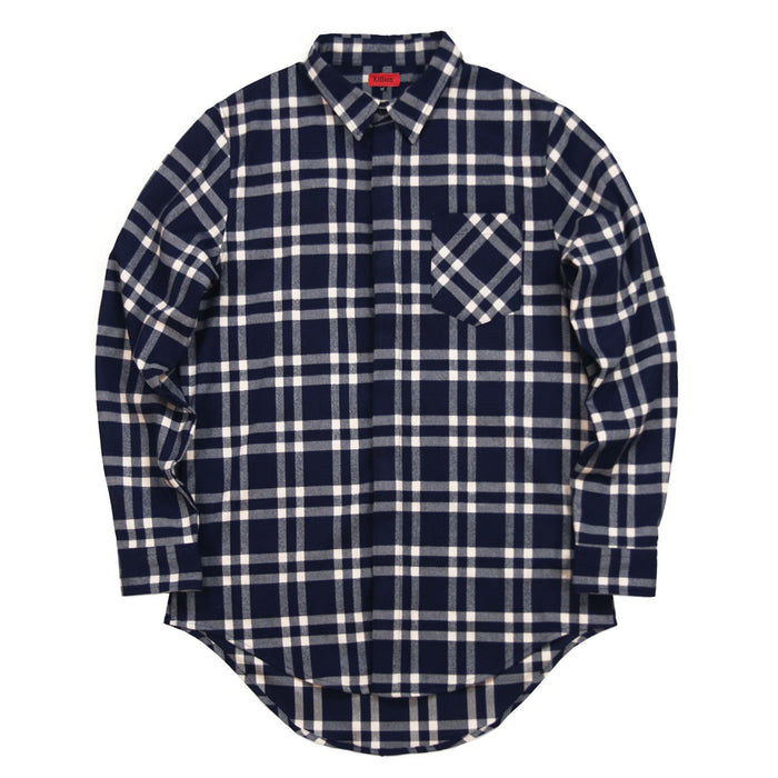 Essex Flannel Buttonup - Navy/Cream (02.18.21 Release)