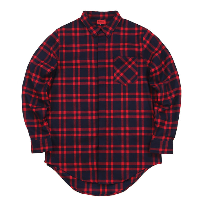 Essex Flannel Buttonup - Red/Navy (02.18.21 Release)