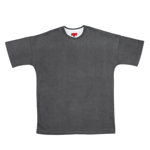 Nubuck Dropped Shoulder Tee - Charcoal