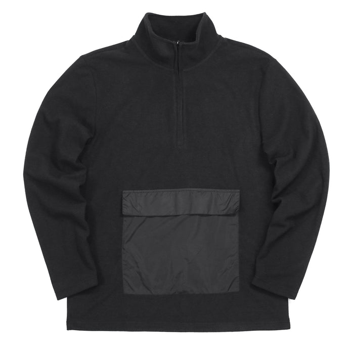 Polar Fleece Pullover Anorak - Black