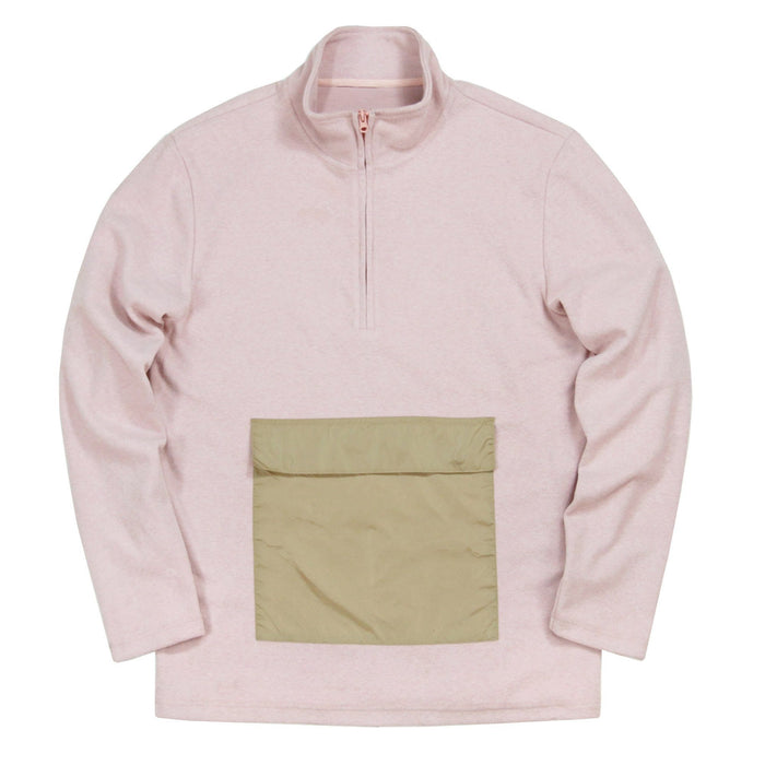 Polar Fleece Pullover Anorak - Peach