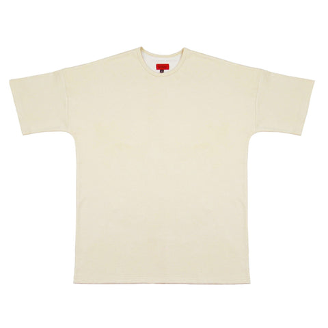 Nubuck Dropped Shoulder Tee - Ivory