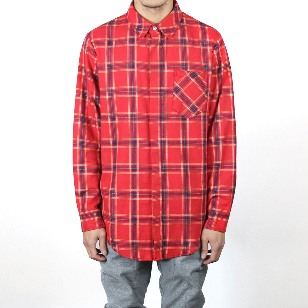 Brighton Flannel LS Buttonup - (Red)