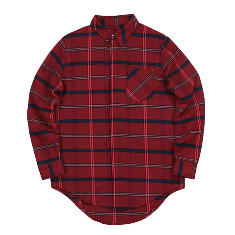 Rosen Flannel LS Buttonup - (Dark Red)