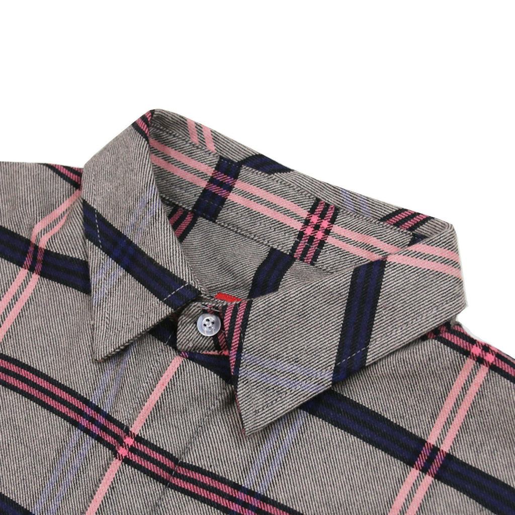 Rosen Flannel LS Buttonup - Grey/Pink