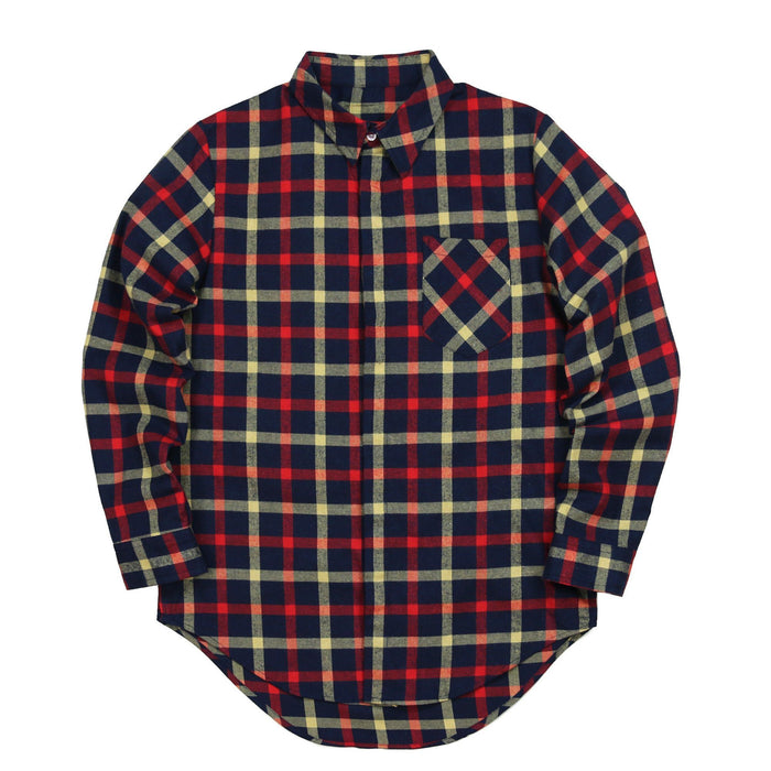 Plancheck Flannel LS Buttonup - Navy/Red/Yellow (11.26.20 Release)