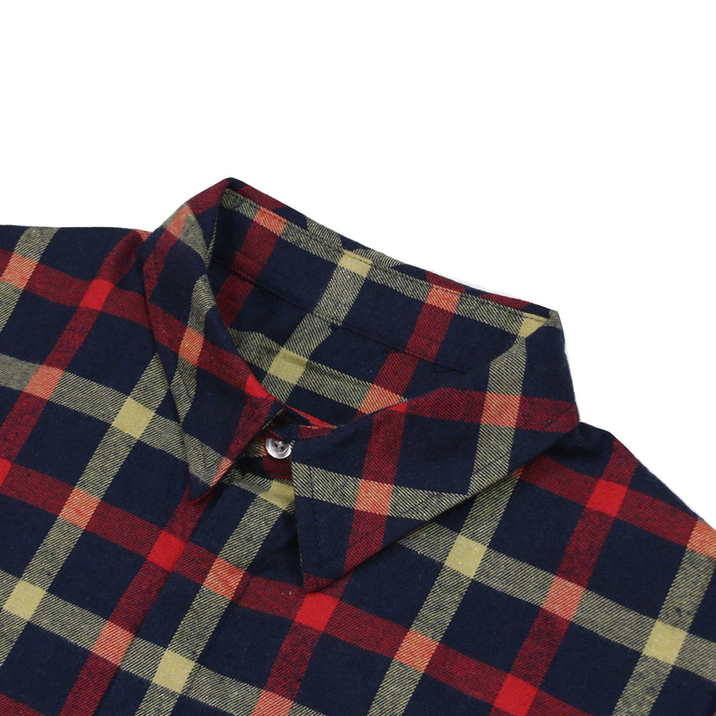 Plancheck Flannel LS Buttonup - Navy/Red/Yellow