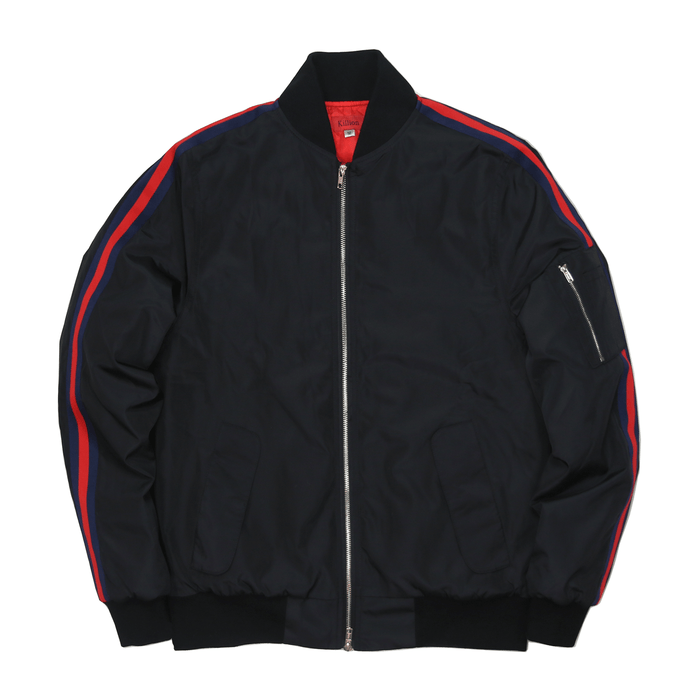 Bomber Track Jacket - Black