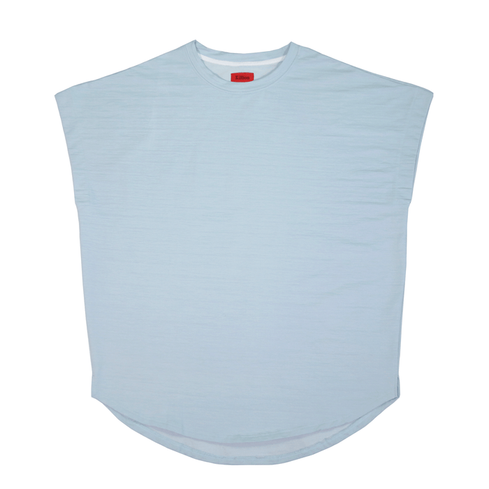 Loose Cut-Off Top - Clay Blue