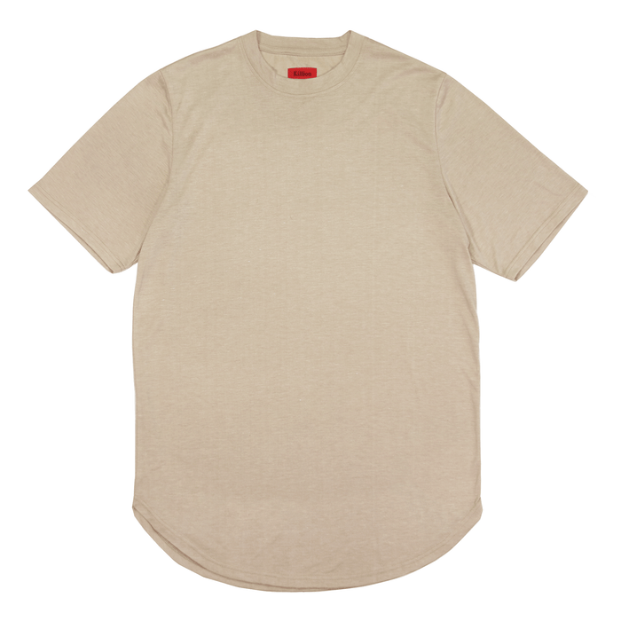 Melange Scoop Shirt - Sand