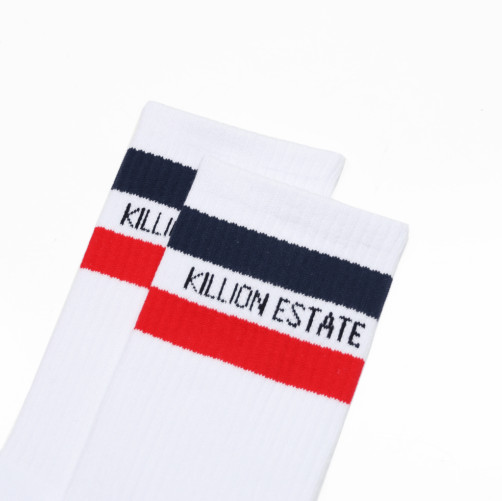 Estate Crew Sock - White