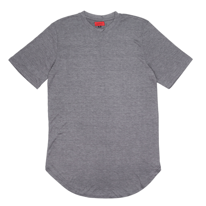 Melange Scoop Shirt - Charcoal