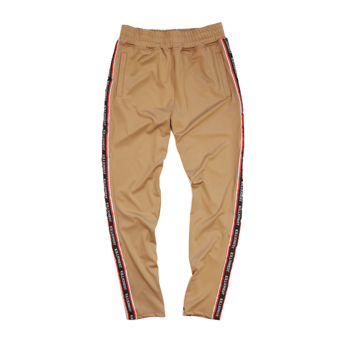 Ribboned Track Pants - Khaki