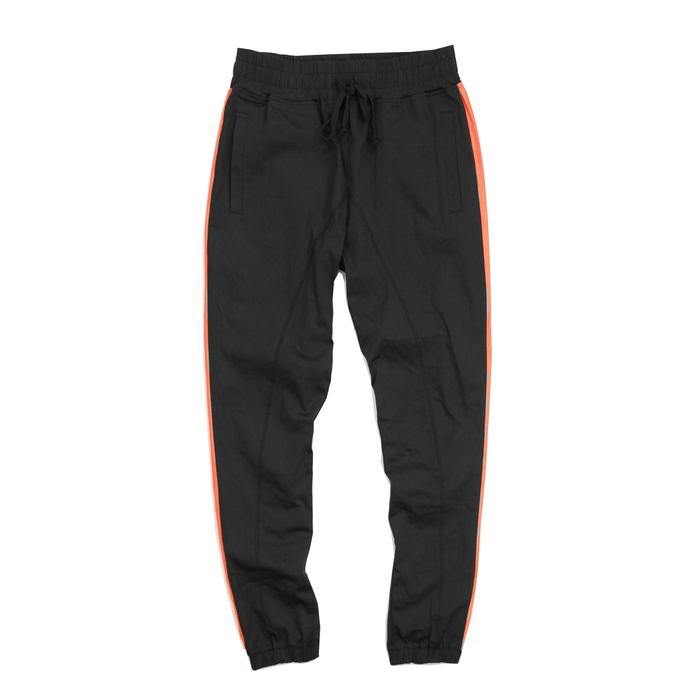 Striped Twill Trouser - Black