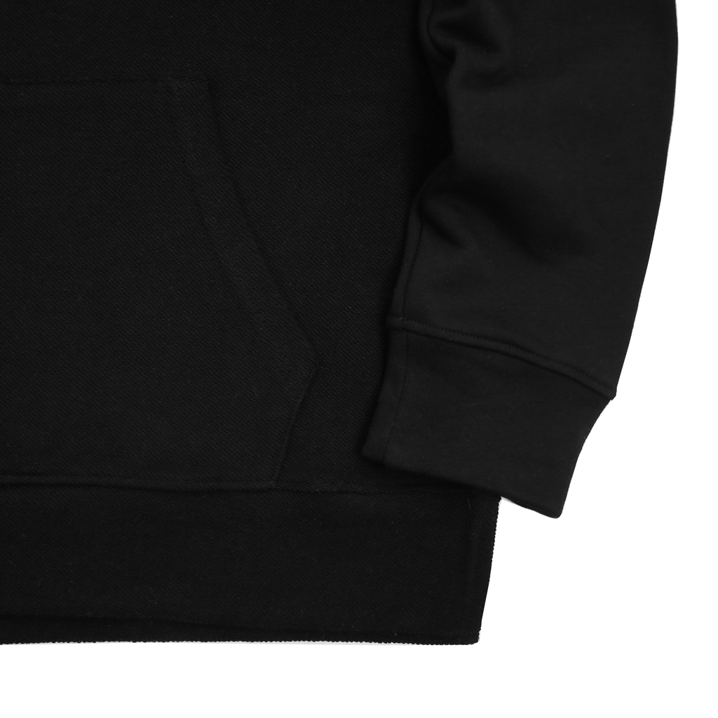Reversed Terry  Draped Hoodie - Black (03.12.19 RELEASE)