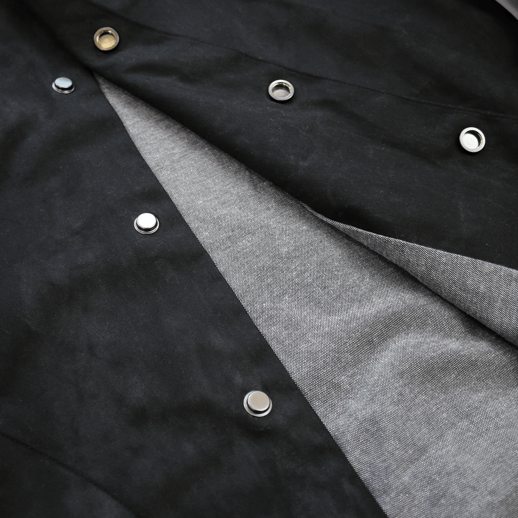 Waxed Twill Fishtail Parka - Black